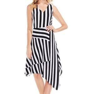 Black and white striped Vince Camuto Dress